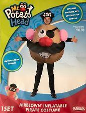 Adult Playskool Air Blown Inflatable Mr Potato Head Pirate Halloween Costume