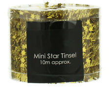 Gold Mini Star Tinsel Garland for Christmas Decoration - 10m