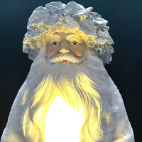 Light Up Santa Claus White Silver 14 Inch Giftcraft Battery Operated