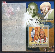 "Sao Tome 2007 - Mahatma Gandhi.India  - stamps imperf.  MNH""""- (A209)"