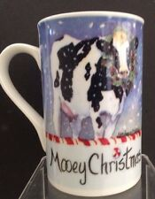 Poultry in Motion Cow Mug Cup Holstein Mooey Christmas Sharon Meuhaus Design