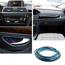 BLUE 5M FLEXIBLE TRIM FOR CAR INTERIOR EXTERIOR MOULDING STRIP DECORATIVE LINE
