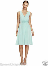 BNWT Size 14/16 BHS RUBY Chiffon Short Bridesmaid dress Mint Green £80