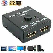 HDMI 2.0 HDTV Switch Switcher Splitter Bi-Direction Hub HDCP 2x1 1x2 In Out 4K