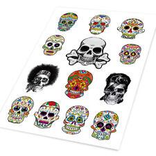 1 Set Sugar Skull Art Hellaflush Car Auto Handy Ipad Vinyl Sticker Decal Window