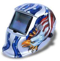 Auto Darkening Welding Helmet Mask Welders Grinding Function Solar Power White