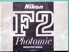 NIKON F2 PHOTOMIC OPERATING INSTRUCTION MANUAL