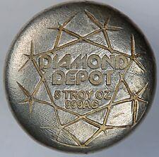 Diamond Depot 5 oz .999 Fine Silver Poured Top / Diamond Shaped