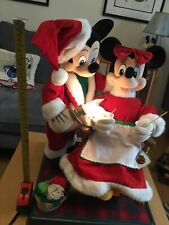 More details for christmas mickey and minnie rocking chair figures  1997 by telco,light +  music.