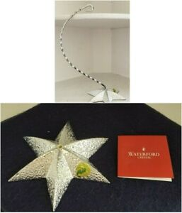 Waterford Crystal Silver Star Ornament Holder Stand Holiday Heirloom Christmas