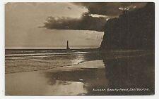 Old Postcard, Sunset, Beachy Head, Eastbourne