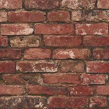 RUSTICO Mattone Effetto Carta Da Parati Rosso Fine Decor fd31285 Designer Caratteristica Muro UK