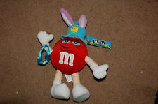 M&M's Plush Stuffed Red Easter Bunny New With Tag
