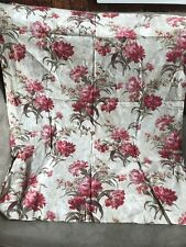 Antique French Pink Floral Fabric Remnant