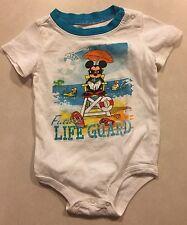 Disney Baby, Mickey, Future Lifeguard Romper Size 9 Mo 100% Cotton