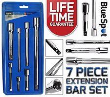 "Mixed Extension Bars 7pc Long Reach Socket Extension Bar Set 1/4"" 3/8"" 1/2"""