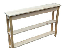 Random Unfinished Narrow Premium Pine Wood Table - 46 inches long