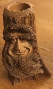 Bearded Mountain Man Wood Spirit Hand Carved Candle Holder by Dave Maggard