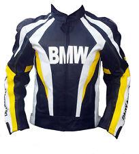 BMW GoldBet Motorbike Racing Leather Mens Jacket Motorcycle Biker Leather Jacket