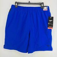Speedo | Men's Tech Volley UltraSoft Trunks Swim Shorts | LARGE | Blue NWT