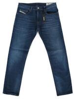 Diesel Mens Slim Fit Stretch Denim Jeans Dark Blue |Thavar XP RB024