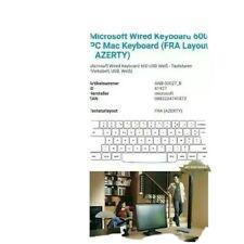 Microsoft Wired Keyboard 600 Tastatur Computer-Tastatur USB Schnittstelle AZERTY