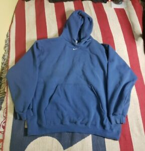 Vintage 90s Nike Center Swoosh Hoodie XXL USA Made Travis Scott Blue Royal