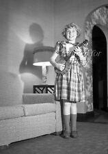1950 Young Girl with Miniature Banjo ORIGINAL PHOTO NEGATIVE