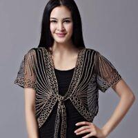 Women Lace Mesh Floral Bolero Shrug Coat Tie Short Sleeve Cardigan Shawl Loose