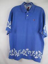 Tommy Hilfiger Boy's Size XL 100% Cotton Short Sleeve Floral Hawaiian Polo Shirt