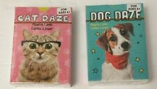 Cat & Dog Daze Playing Cards 2-Decks Sealed NEW Multi Breed Cats & Dogs