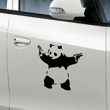 Funny Black Panda With Guns Vinyl Sticker Car Windshield Wall Hoods Decal Badge