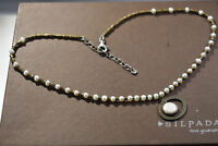 SILPADA N1894 Pearl Brass Sterling Silver Go Coastal Necklace 925