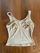 INSPIRATIONS Active Firm Shaping Tank Top White Woven Cross Back NEW Womens Sz S