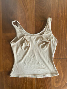 MAIDENFORM FLEXEES Womens XL Tan FAT FREE DRESSING BUILT UP TANK TOP