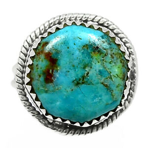 Kingman - Blue Mohave Turquoise 925 Sterling Silver Ring Jewelry s.6 BR97107