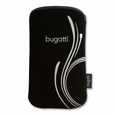 """Bugatti Handytasche SlimCase Tasche Silver """"b"""" für Apple iPhone SE mit Bumper"""