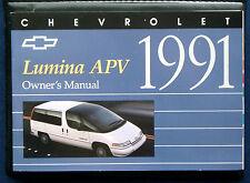 Owner's Manual * Betriebsanleitung 1991 Chevrolet Chevy Lumina APV (USA) Set