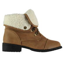 SoulCal Frost Hiker Boots Womens Girls Rugged Laces Fastened Padded Ankle New