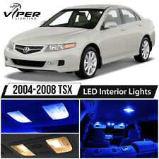 2004-2008 Acura TSX Blue LED Interior Lights Package Kit