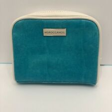 Moroccan Oil Logo Blue Cosmetic Makeup Bag Zipper Pouch Make Up Bag Travel