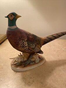 "Lefton China Pheasant Statue Figurine Hand Painted Bird Vintage 7.5"" KW769"