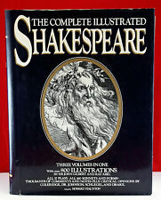 The Complete Illustrated Shakespeare 3 Volumes Hardcover 800 Illustrations 1979
