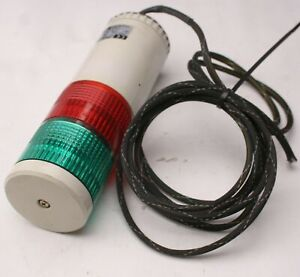 Patlite LME-T Stack Light Beacon Signal Tower, Red Green, 24V AC/DC, 0.3A