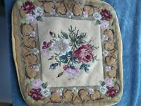 Vintage Needlepoint Pillow Case/cover