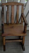 Nice Vintage Wooden Handmade Rocking Chair for Dolls, GOOD COND
