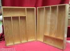 Bandeja de madera de pino 5 Compartimentos Resistente dibujar ordenado granos de cubiertos cocina
