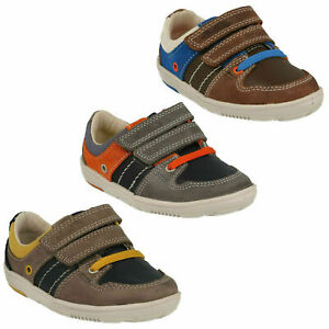 BOYS CLARKS MAXI MYLE INFANT HOOK & LOOP CASUAL WALKING TODDLER FIRST SHOES SIZE