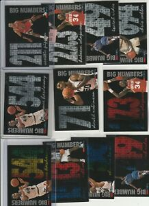 90'S INSERTS LOT (11/24) 1994-95 HOOPS BIG NUMBERS SILVER + RAINBOW PIPPEN PENNY