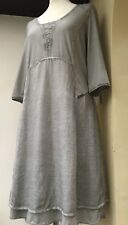NEW Tunic Dress Simclan M 10 12 Distressed Grey Vintage Arty Quirky Chic Boho